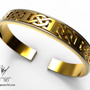 Esclava Celtica de Oro Amarillo Vista A